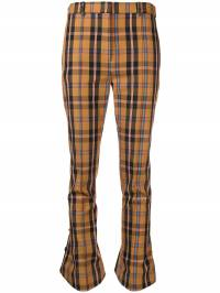 Rokh - checked kick flare trousers A06CM939330030000000