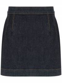 À La Garçonne - high waisted denim skirt 68699309965600000000