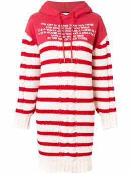 Each X Other - Mix Media Striped Sailor Knit Hoodie Dress 8G956689303535300000