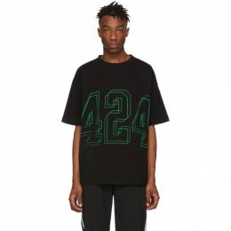 424 Black Logo T-Shirt 191010M21300503GB