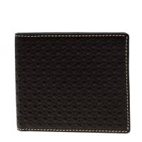 Carolina Herrera Black Monogram Leather Bifold Wallet