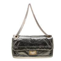 Chanel Metallic Green Perforated Leather Reissue Drill Flap Bag