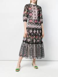 Temperley London - платье миди 'Flux' с принтом FXD50869936583580000