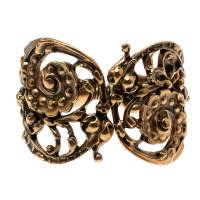 Oscar De La Renta Gold Plated Baroque Scroll Bracelet 192724