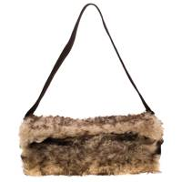 Dolce & Gabbana Beige/Brown Fur and Suede Shoulder Bag