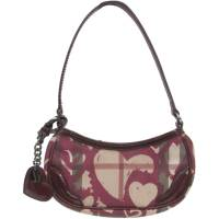 Burberry Bordeaux Nova Check PVC and Leather Heart Pochette Bag