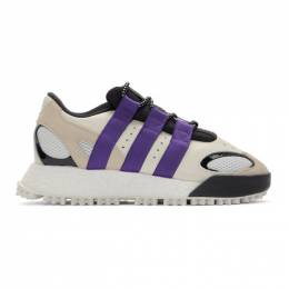 Adidas Originals By Alexander Wang Off-White and Purple Wangbody Run Sneakers 192919F12800306GB