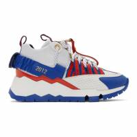 Pierre Hardy White and Blue Victor Cruz Edition VC1 Sneakers