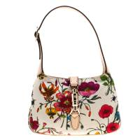 Gucci Multicolor Floral Print Canvas Limited Edition Jackie O Shoulder Bag