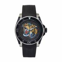 Gucci Black and Silver Dive Watch 192451M16500501GB