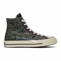 J.W. Anderson Black and White Converse Edition Glitter Chuck 70 High Sneakers 191477F12700806GB