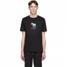 Ps by Paul Smith Black Zebra Made Regular Fit T-Shirt 192422M21302106GB