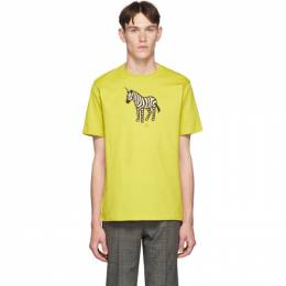 Ps by Paul Smith SSENSE Exclusive Yellow Zebra Regular Fit T-Shirt 192422M21301304GB