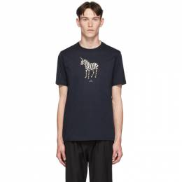 Ps by Paul Smith SSENSE Exclusive Navy Zebra Regular Fit T-Shirt 192422M21300905GB