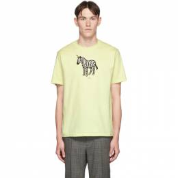 Ps by Paul Smith SSENSE Exclusive Yellow Zebra Regular Fit T-Shirt 192422M21300101GB