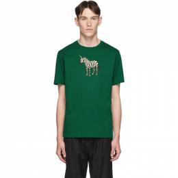 Ps by Paul Smith SSENSE Exclusive Green Zebra Regular Fit T-Shirt 192422M21300406GB