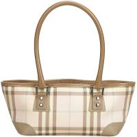 Burberry Pink PVC Candy Check Top Handle Bag