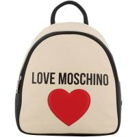 Love Moschino Brown Fabric Applique Backpack 196122