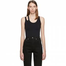 Helmut Lang Black Slashed Seamless Tank Top 192154F11100402GB