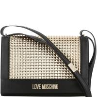 Love Moschino Black/Gold Faux Leather Shoulder Bag