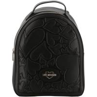 Love Moschino Black Faux Cut-Out Perforated Leather Backpack 196202