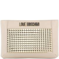 Love Moschino Beige/Gold Faux Leather Crossbody Bag