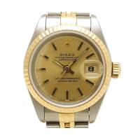Rolex Champagne 18K Yellow Gold and Stainless Steel Datejust Women's Wristwatch 26MM 195963