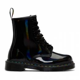 Dr. Martens Black Iridescent Rainbow 1460 Boots 192399F11307607GB