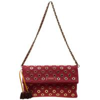 Marc Jacobs Red Quilted Eyelets Leather Gotham Shoulder Bag