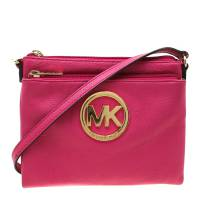 MICHAEL Michael Kors Pink Leather Adele Crossbody Bag