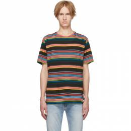 Ps by Paul Smith Multicolor Stripe T-Shirt 192422M21302604GB