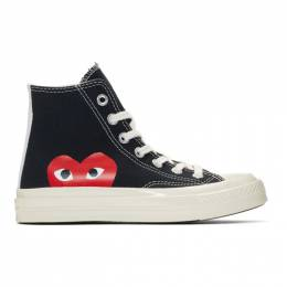 Comme Des Garcons Play Black Converse Edition Half Heart Chuck 70 High Sneakers 192246F12700106GB