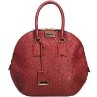 Burberry Red Grained Leather Orchard Satchel Bag