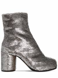 80mm Tabi Sequined Ankle Boots Maison Margiela