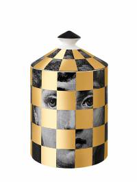 Scacco Gold Scented Candle With Lid Fornasetti 69IWUZ006-QkxBQ0svR09MRA2