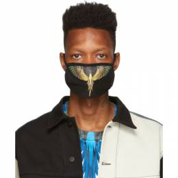 Marcelo Burlon County Of Milan Black and Brown Wings Mask 192539M15000101GB