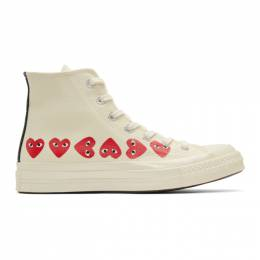 Comme Des Garcons Play Off-White Converse Edition Multiple Heart Chuck 70 High Sneakers 192246F12700406GB