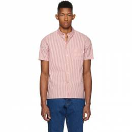 Ps by Paul Smith Red Stripe Casual Fit Short Sleeve Shirt 192422M19200601GB