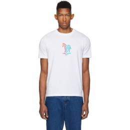 Ps by Paul Smith White Zebra Made T-Shirt 192422M21302203GB
