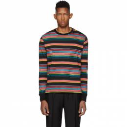 Ps by Paul Smith Multicolor Regular Fit Striped T-Shirt 192422M21301504GB