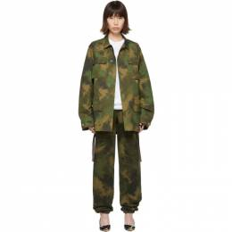 Off-White Green Paintbrush Camouflage Field Jacket 192607F06301003GB