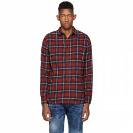 Dsquared2 Red Plaid M.B. Shirt 192148M19200709GB