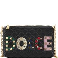 Dolce & Gabbana Black Quilted Leather Pochette Bag