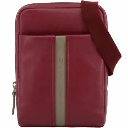 Piquadro Red Leather Messenger Bag 194643