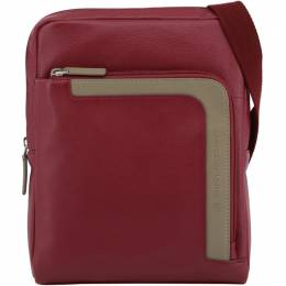 Piquadro Red Leather Messenger Bag 196819