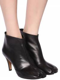 80mm Tabi Leather Ankle Boots Maison Margiela