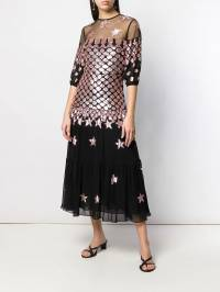 Temperley London - платье миди 'Starlet' с пайетками SAR50869936583850000