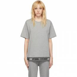 Opening Ceremony Grey Elastic Logo T-Shirt 192261F11001101GB