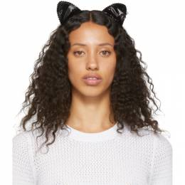 Maison Michel Black Heidi Cat Headband 192740F01800101GB