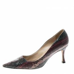 Manolo Blahnik Purple Snakeskin Pumps Size 36 143615